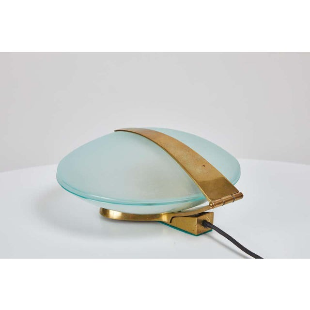 Max Ingrand Glass and Brass Shell Table Lamps for Fontana Arte, Circa 1960 For Sale - Image 12 of 13