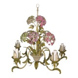 Image of Hydrangea Tole 5 Light Chandelier For Sale