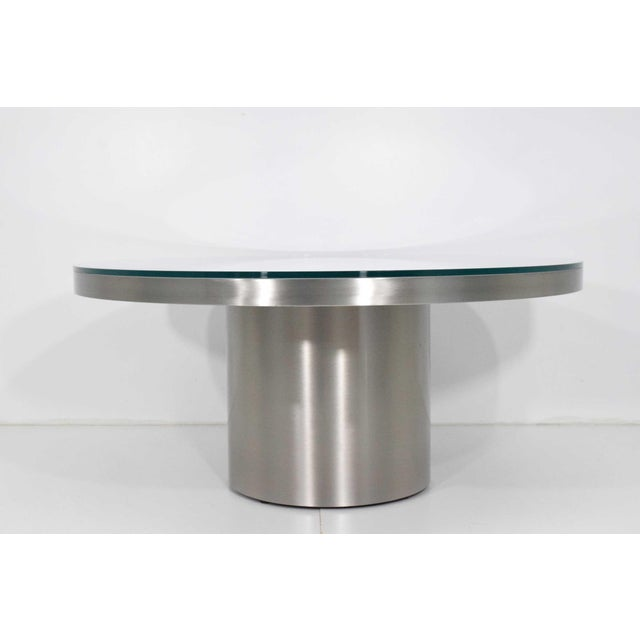Modern Brueton Brushed Stainless Steel Coffee Table For Sale - Image 9 of 9