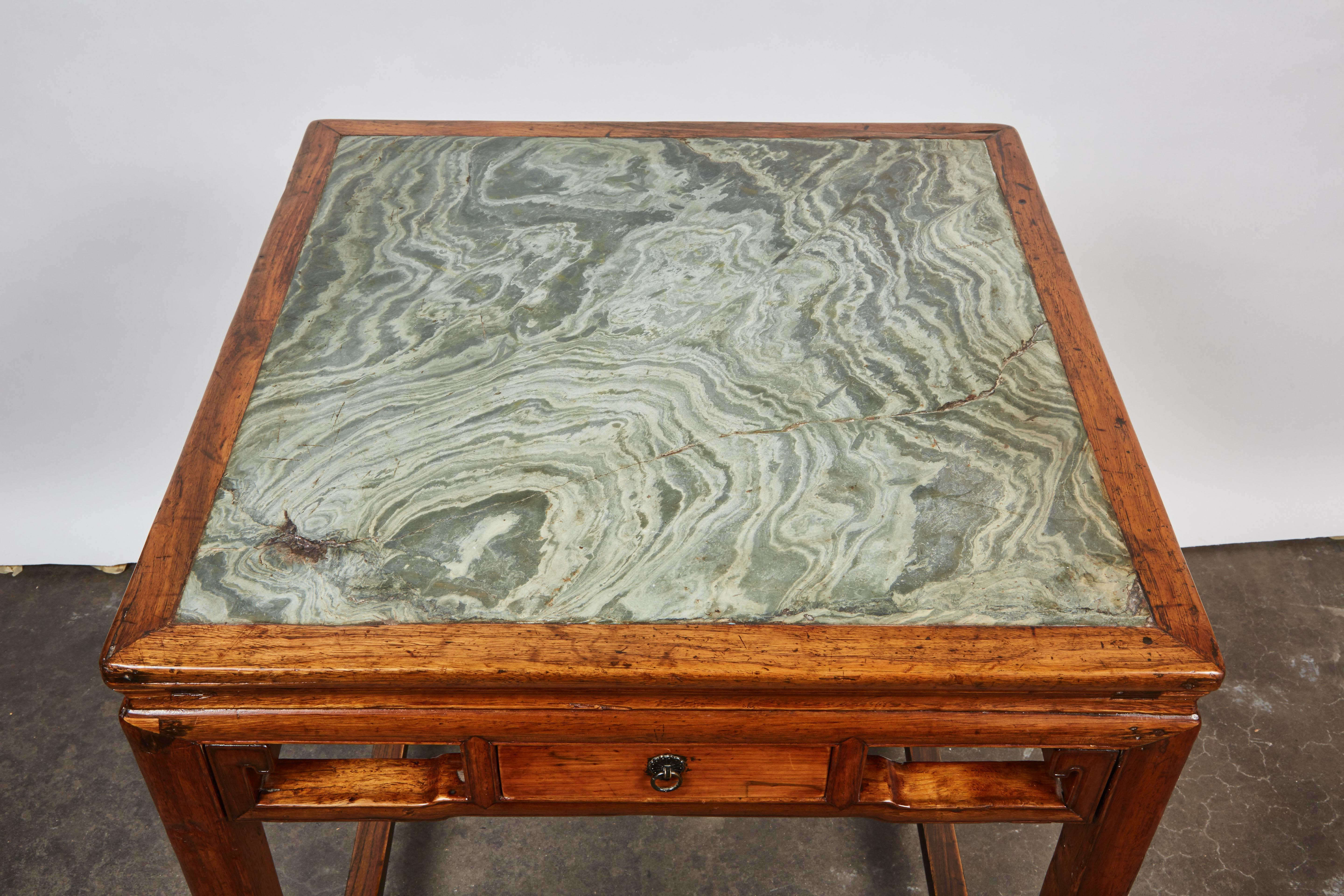 Relatively Incredible 18th Century Chinese Four Drawer Cedar Square Table  MN18