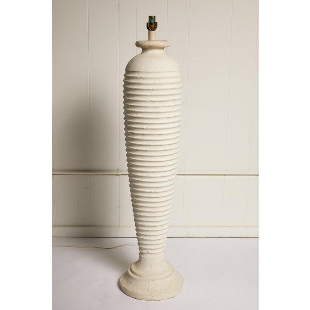 Vintage Plaster Sculptural Floor Lamp For Sale - Image 9 of 9