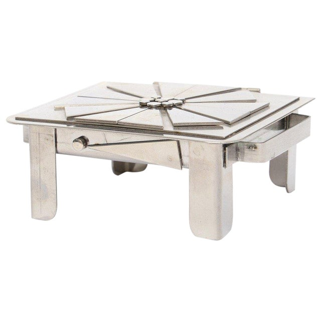 Stanley Szwarc Sculptural Stainless Steel Hinged Box For Sale