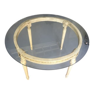 Beautiful Glass Round Table For Sale