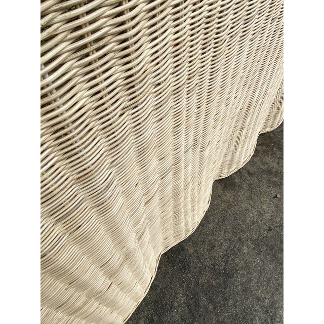 Tan Natural Rattan Trompe l'Oeil Console Table For Sale - Image 8 of 13