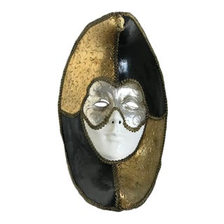 20th Century Venetian Gold Paper Mache Mask For Sale