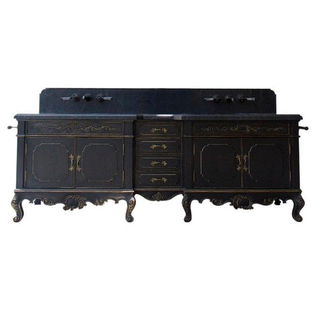 Wood Platner & Co Carbon Carved Vanity For Sale - Image 7 of 7