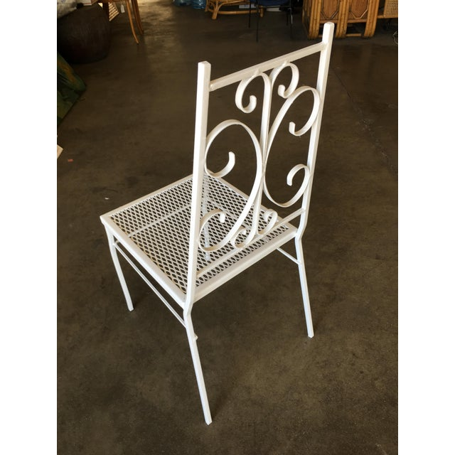 1960s Mid Century Outdoor/Patio Side Chair With Scrolling Pattern - Set of 4 For Sale - Image 5 of 9