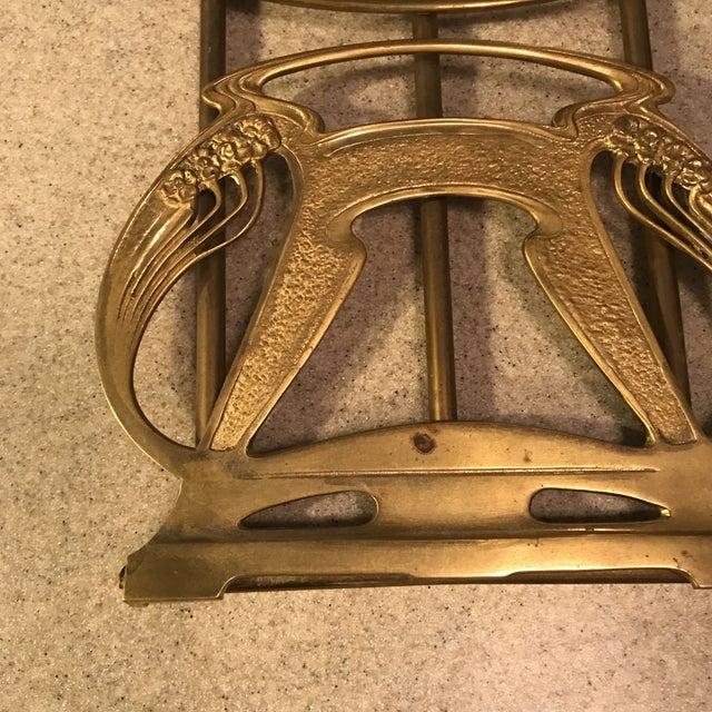 1920s Art Nouveau Brass Expandable Book Rack - Image 7 of 10