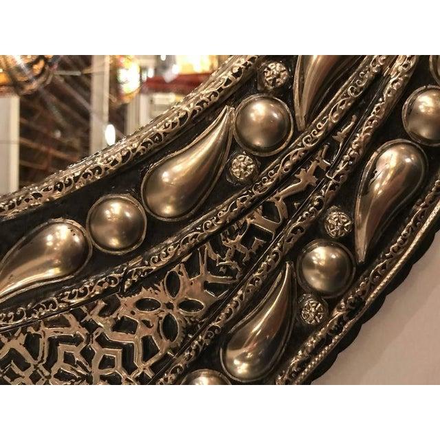 Eye Ball Form Art Deco Style Metal Wall Mirror - Image 9 of 10