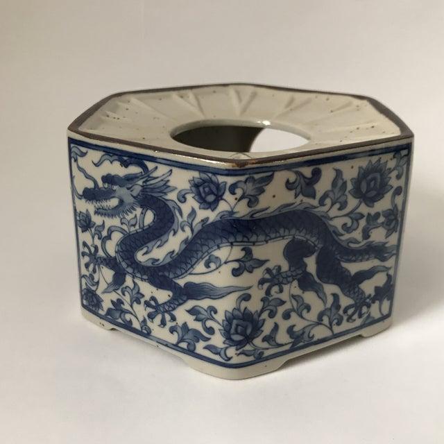 Blue & White Porcelain Vessel For Sale - Image 11 of 11