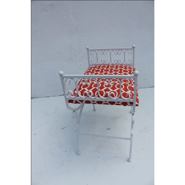 Arthur Umanoff The Granada Collections Iron Bench For Sale - Image 5 of 8