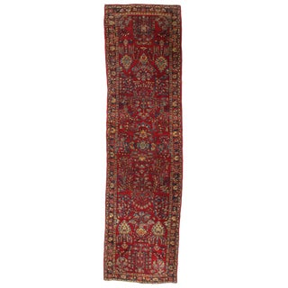 Early 20th Century Antique Persian Sarouk Rug - 2′8″ × 6′11″ For Sale