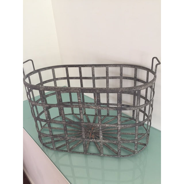 Vintage Zinc Basket - Image 5 of 8