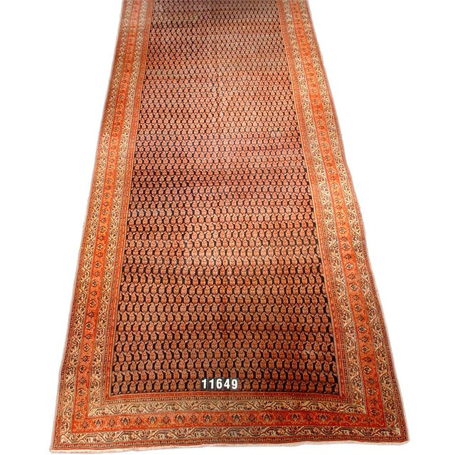 Islamic Serebend Persian Gallery Carpet - 7′7″ × 19′9″ For Sale - Image 3 of 3