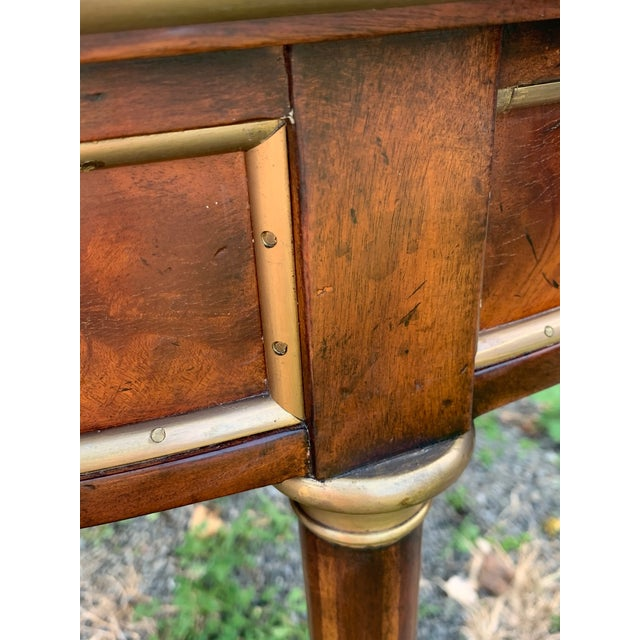 Metal Crotch Mahogany Demilune Game Tables -A Pair For Sale - Image 7 of 13