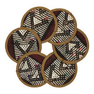 Kilim Coasters Set of 6 - Kapuska For Sale