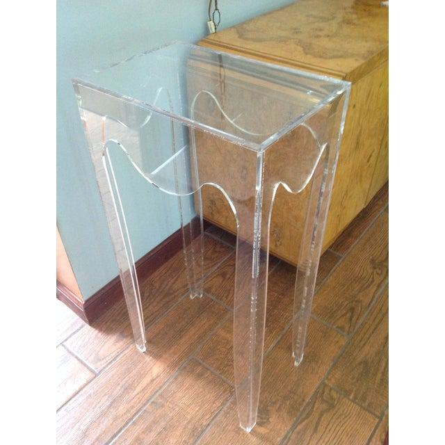 Acrylic Vintage Acylic Plant Stand Table For Sale - Image 7 of 7