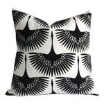 Onyx Velvet Swan Pillow