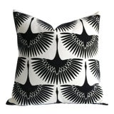 Image of Onyx Velvet Swan Pillow For Sale