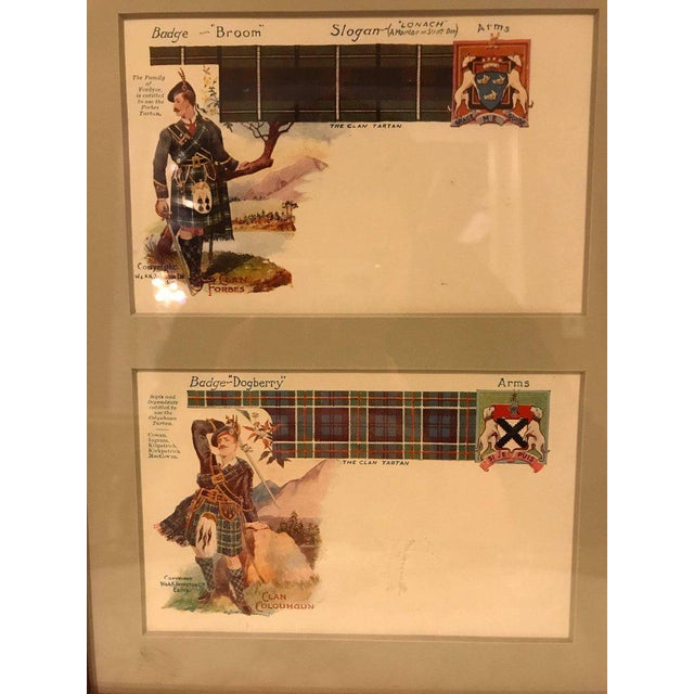 English Traditional Vintage Catherine Reiss Inc Custom Framed Scottish Postcards - Set of 6 For Sale - Image 3 of 10