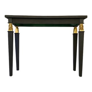 Neoclassical Style Pencil Reed Console Table For Sale