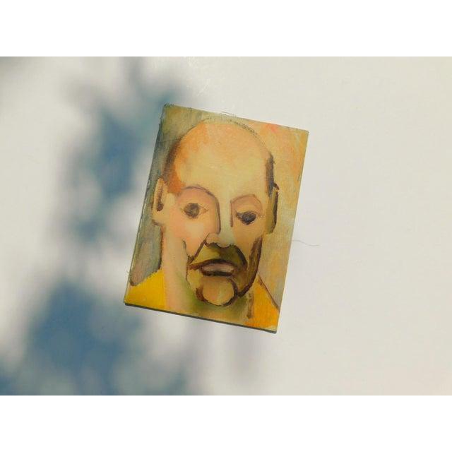 1960s Monsieur Vintage Oil Portrait Painting For Sale - Image 5 of 6