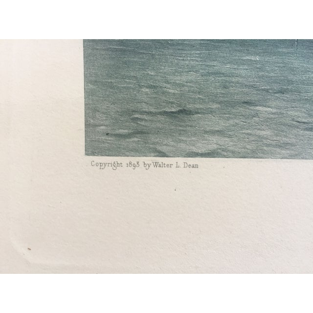 19th-C. Boston Harbor Nautical Photogravure - Image 6 of 6