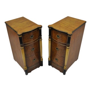 Antique French Art Deco Nightstands - A Pair