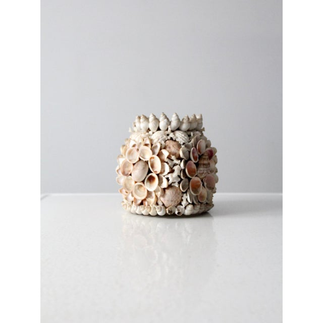 Cottage Vintage Seashell Vase For Sale - Image 3 of 12
