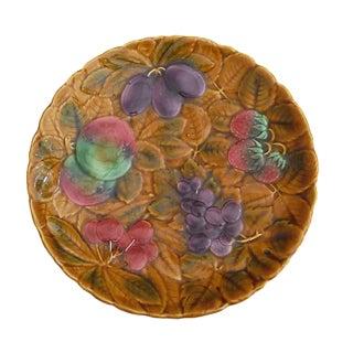 Majolica Fruits Platter For Sale