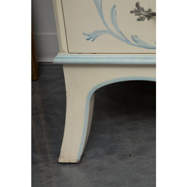 Mid 20th Century Custom Hand-Painted Secretary Desk with Mirrored Doors For Sale - Image 5 of 10