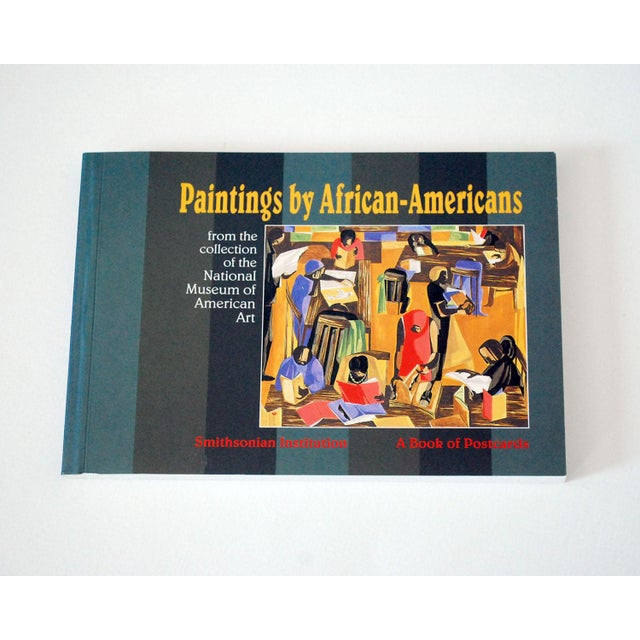 """Green Vintage """"Paintings by African-Americans"""" Postcard Book For Sale - Image 8 of 8"""