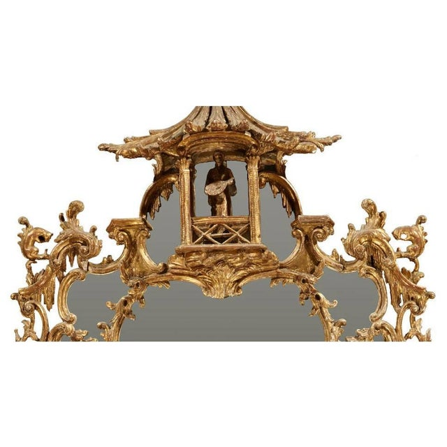 Chippendale George III Chippendale Style Carved Giltwood Mirror, 19th Century For Sale - Image 3 of 9