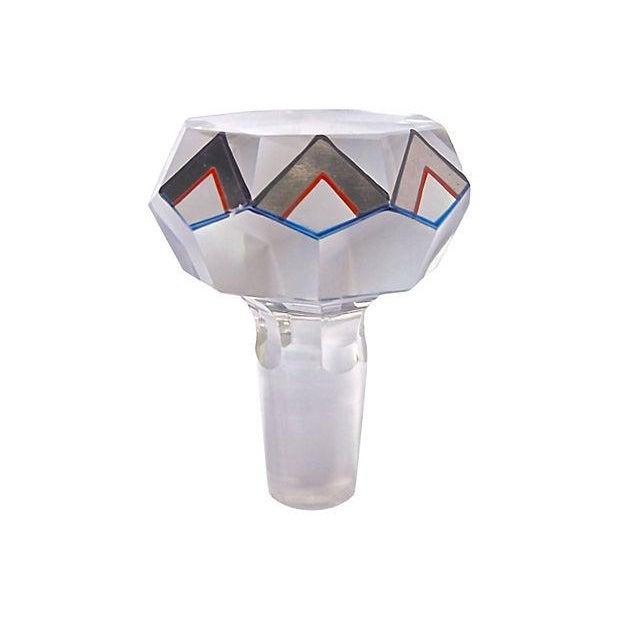 Art Deco Czech Crystal Liquor Set - Set of 6 For Sale - Image 5 of 6