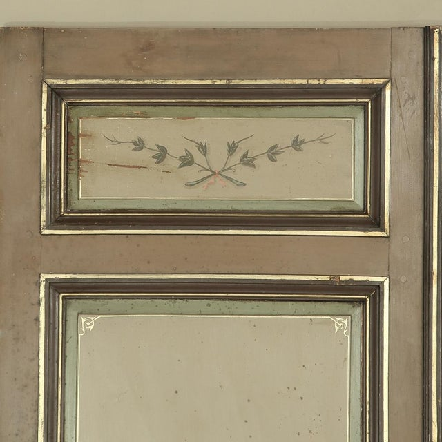 Late 19th Century Pair 19th Century French Hand Painted Paneled Interior Doors For Sale - Image 5 of 13