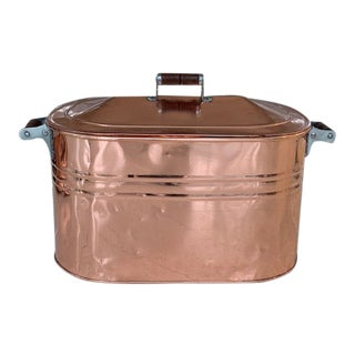 Antique Copper Boiler/Tub/ Log Holder For Sale