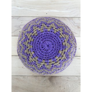Lavender and Tan Woven Basket Preview