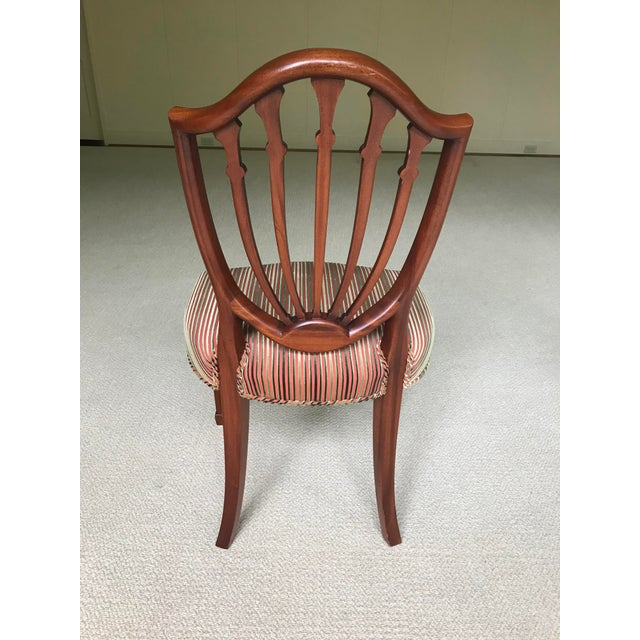 Late 19th Century Hepplewhite Mahogany Shield Back Dining Chairs - Set of 4 For Sale - Image 5 of 9