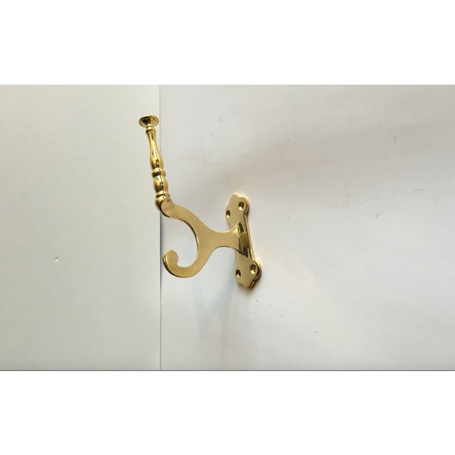 Modern Colonial Dbl Brass Hooks - Set of 10 - Image 4 of 11