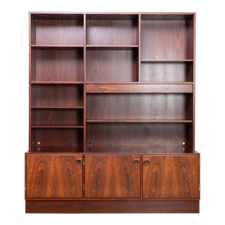 Danish Modern Gunni Omann Rosewood Bookcase Cabinet For Sale
