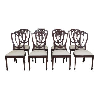 Modern Henkel Harris Model #104 Mahogany Dining Room Chairs- Set of 8 For Sale