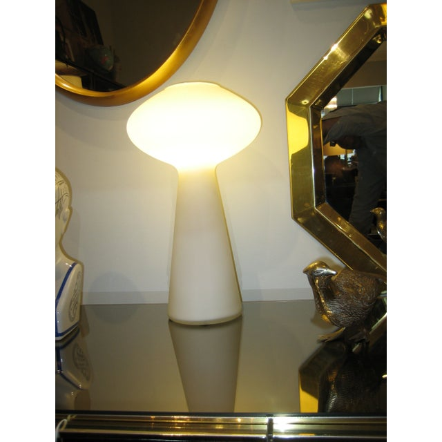 Contemporary VIntage Lisa Johanssen-Pape White Glass Table Lamp For Sale - Image 3 of 5