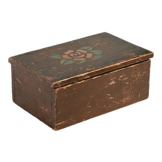 American Craftsman Antique Wooden Box, Handmade For Sale