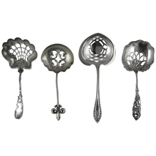 Victorian Sterling Silver Pierced Bon-Bon Servers - Set of 4 - Image 1 of 10