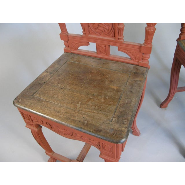Early 20th Century Pair of 19th Century English Cast Iron Chairs For Sale - Image 5 of 9