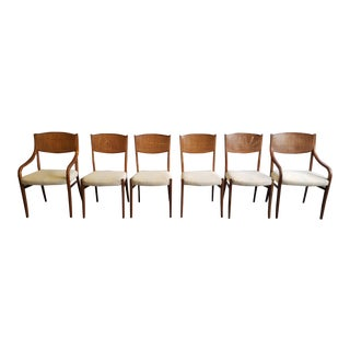 Mid Century Modern Barney Flagg Dining Chairs - Set of 6 For Sale