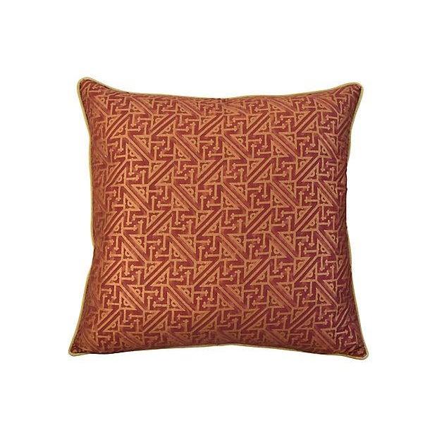 Custom Italian Mariano Fortuny Simboli Feather/Down Pillows - Pair - Image 2 of 10