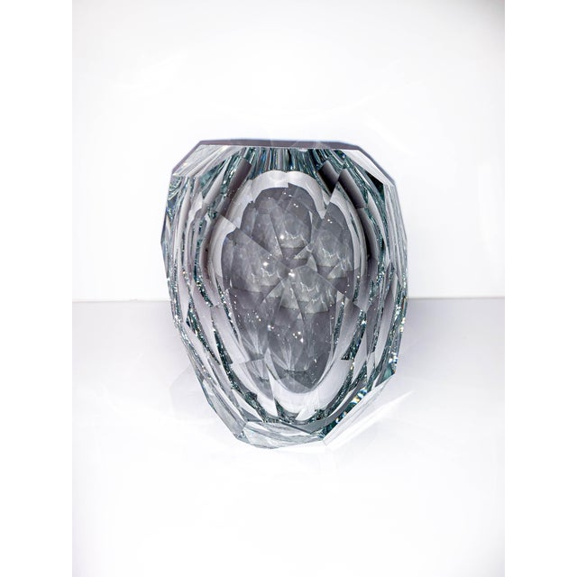 Glass Clear Crystal Mipreshus Vase by Orfeo Quagliata For Sale - Image 7 of 11