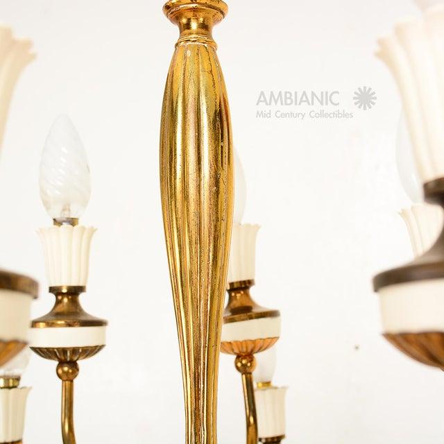 Metal 16 Arm Italian Chandelier For Sale - Image 7 of 10