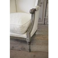 19th Century Antique French Louis XVI Style Wing Chair - Image 5 of 6